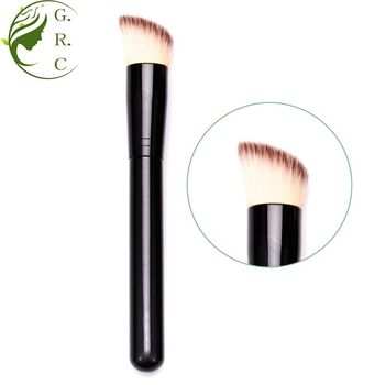 New Design Best Luxury Large Flat Top Concealer Make Up Brushes Synthetic Kabuki Powder 3 In 1 Liquid Foundation Makeup Brush