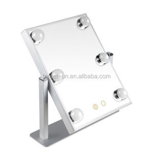 Lighting Vanity Makeup Mirror 6 Light Bulbs With Touch Screen On/Off Hollywood Mirror