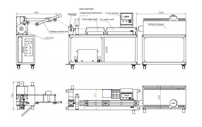 2018 Hot Sale Mini 3D Printer Filament Extrusion Line Extruder Equipment Making Machine