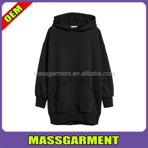 2017 latest design oversized long hoodie fashion black pullover women hoodie