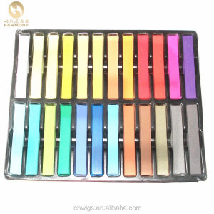 24 colors set temporary hair chalk for dye hair color