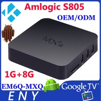 TV Android Box, Amlogic S805 1GB/8GB Supports free OEM/ODM service of designing UI and logo