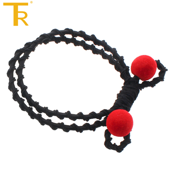 Red frosted ball Knot Double Elastic Hair Bands Tie Rope Ring Rubber Bow Ponytail  Holder Hair 93b77d6ea30