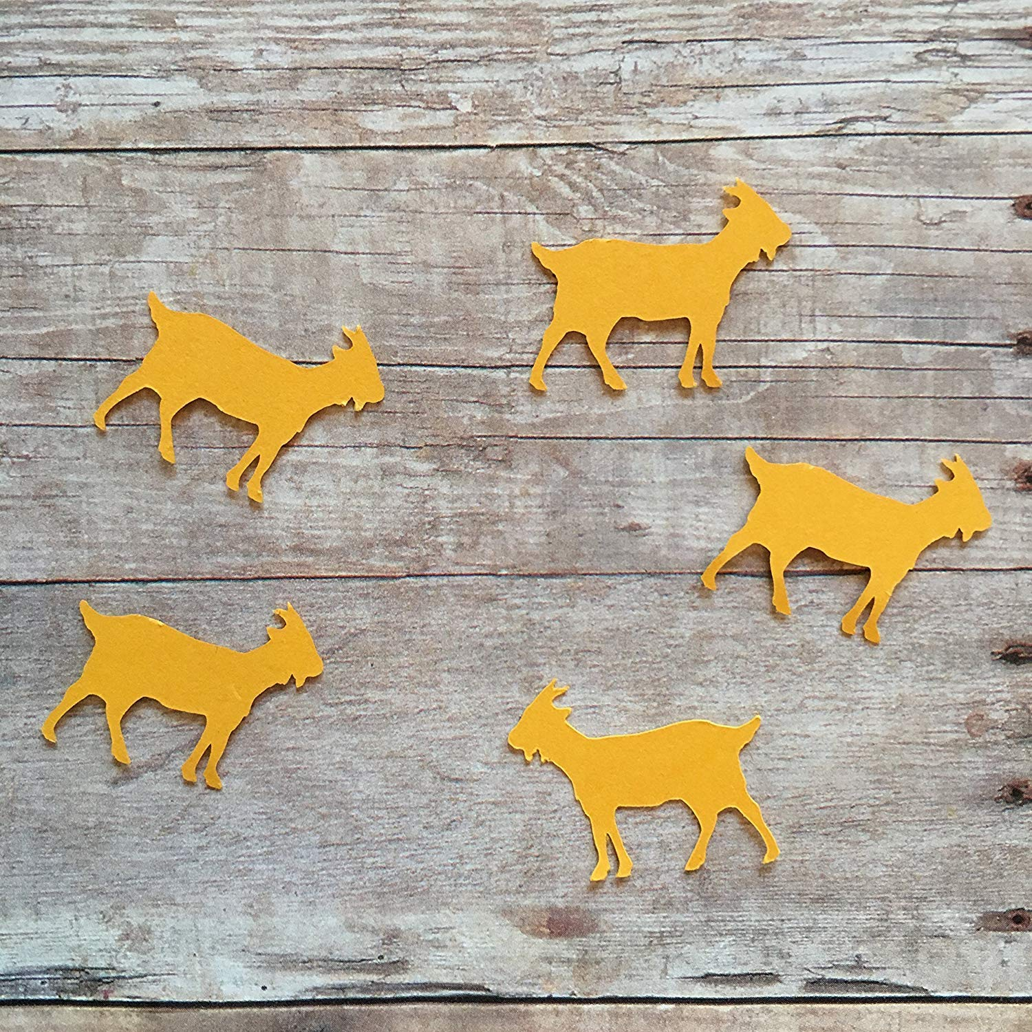 Goat Confetti, Goat Decorations, Animal Party Supplies, Farm Animal Theme, Animal Theme, Table Scatter, Goat Cut Out