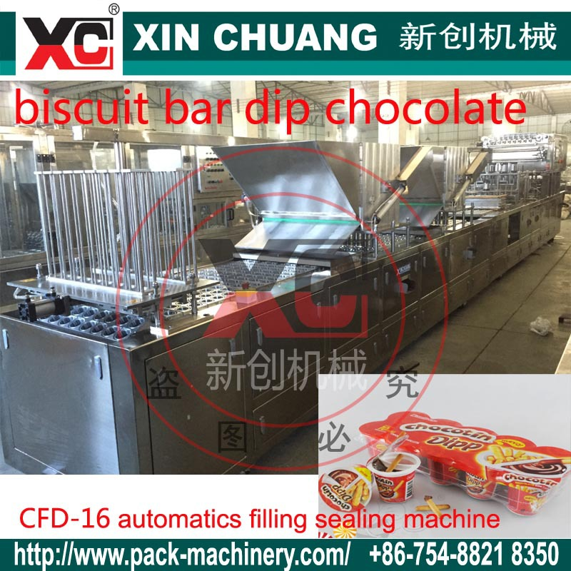 XC-16 automatic dip stick chocolate cup filling sealing machines