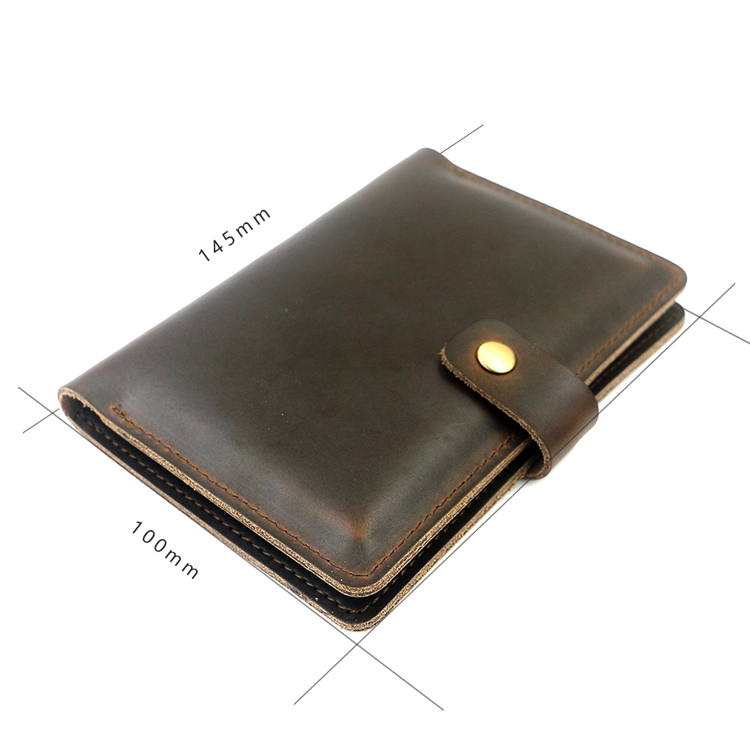 Custom high quality Fashion genuine leather travel card holder clip passport holder