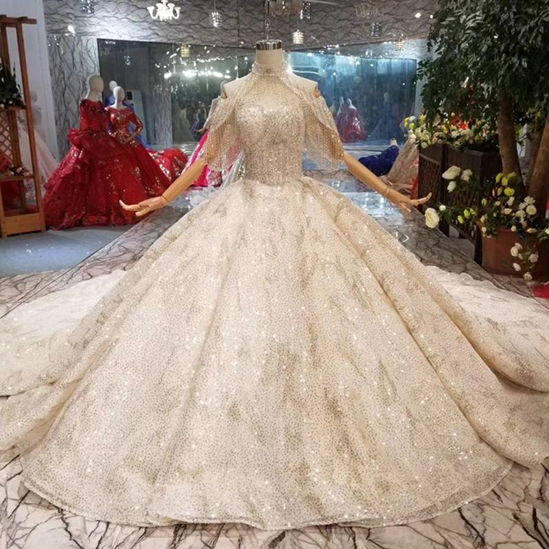 8f0e8b3e8b HTL010 Jancember cuello alto elegante vestido de lujo blanco simple llano  de encaje vestidos de novia