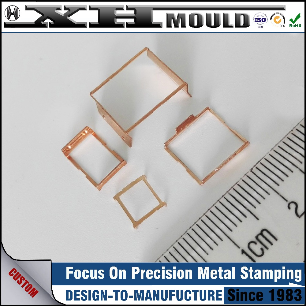 OEM small u shaped copper spring clip with metal stamping blanks