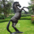 Outdoor Garden Yard Ornament life size jumps bronze horse sculpture