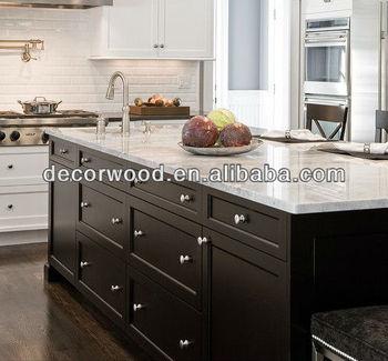 Contemporary Frameless Black Shaker Door Kitchen Cabinet Buy