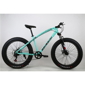 "Adult chopper style 21 speed fat bike / 26x4.0"" full suspension Fat Tire bicycle for men / Snow bike with high quality"