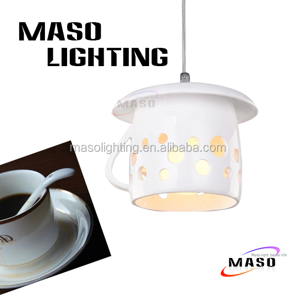 Latest Modern Design Cup Teapot shade Resin Fabric Pendant Lamp For Indoor Lighting Bar, Dining Room Restaurant