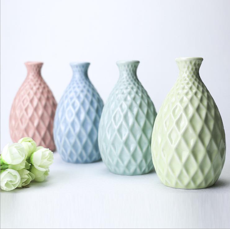 alto diseo florero estilo europeo decoracin del hogar mini florero de cermica en diferentes colores - Jarrones Modernos