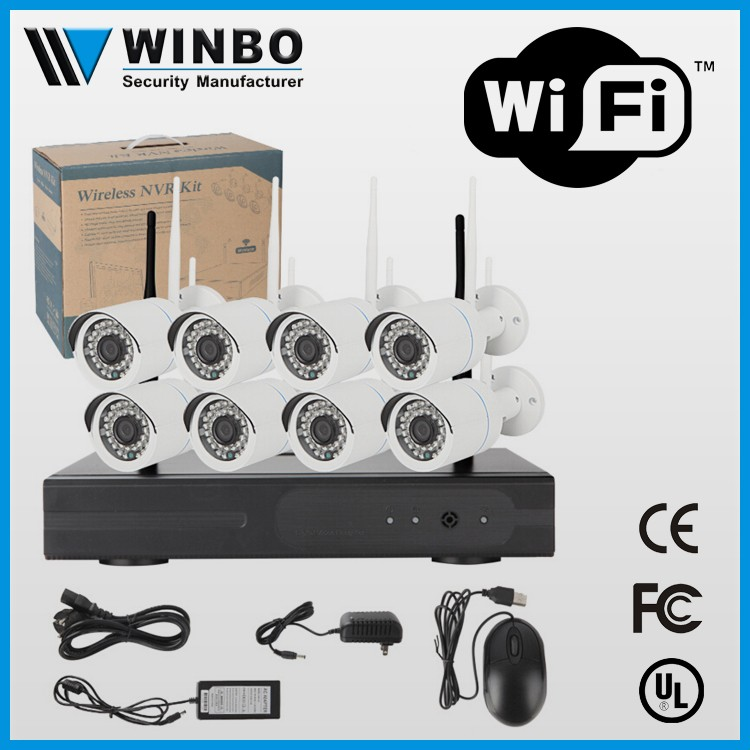 China supplier wholesale easy to install 8ch mini low cost wifi ip camera with wireless nvr kit