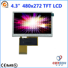 4.3 inch 480X272 TFT LCD 450nits brightness 6 o'clock view direction with CTP capacitive touch panel