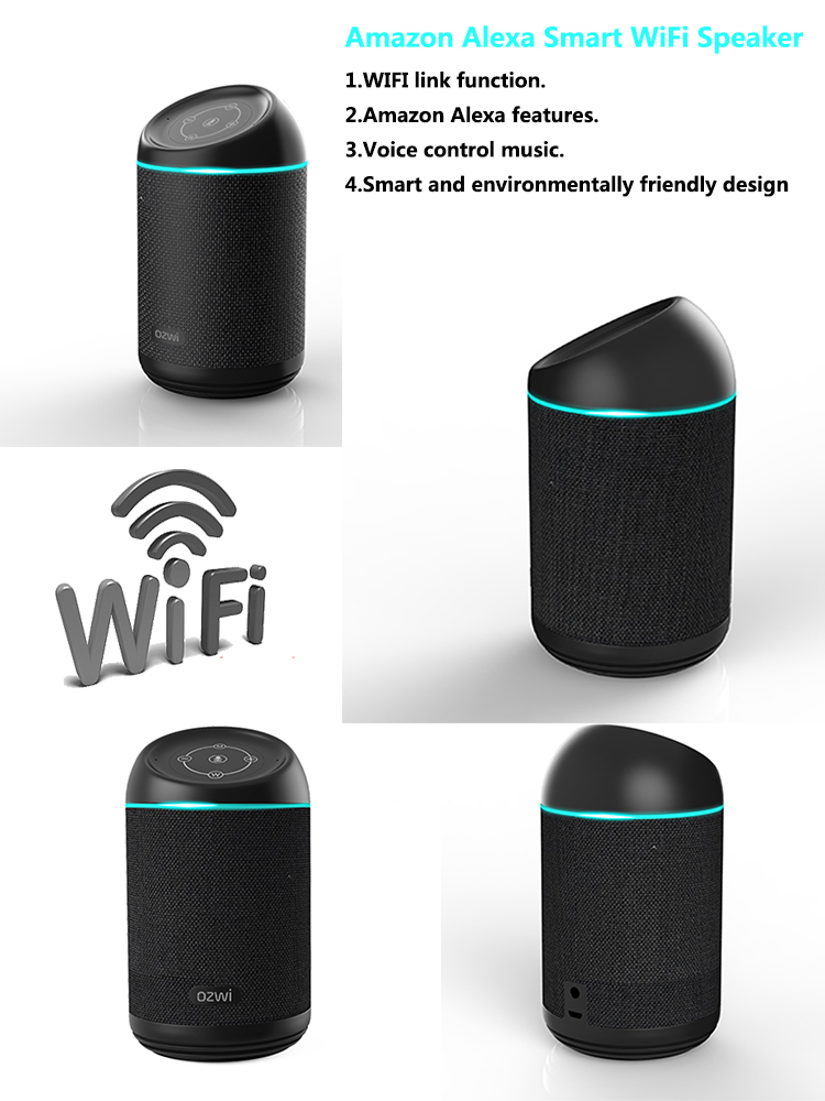 Portable Wi-Fi BT Smart Speaker With Amazon Alexa, wifi speaker,alexa speaker