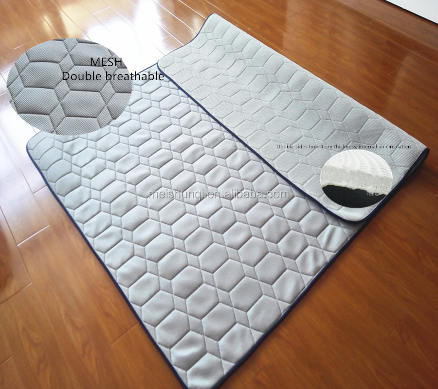 breathable 3 d sandwich mesh cloth quick-drying folding mattress
