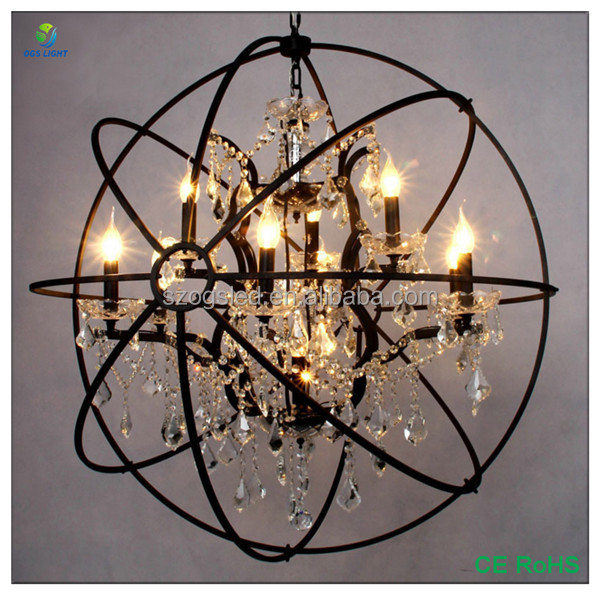 Hotel Lobby Decoration Big Size Modern Crystal Chandelier Lighting On Sale