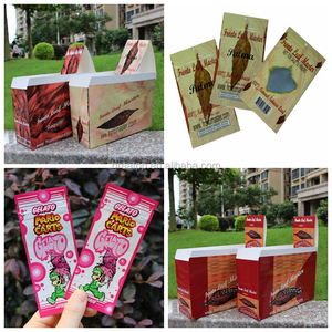 custom printed smell proof flavored blunt wrapper hemp wraps with cardboard display pop box
