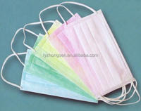 Colorful Disposable Surgical Tie-on Non-woven Face Mask/beard Cover