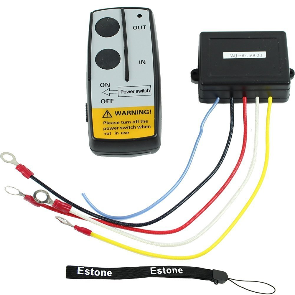 Buy Estone 12v Electric Winch Wireless Remote Control Kit For Truck How To Wire A Jeep Atv Warn Ramsey