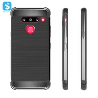 2019 new arrives Top sell Luxury type carbon fiber TPU phone case for LG G8/Thin Q ,TPU phone Back cover case for LG