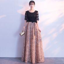 Женское вечернее платье Cheongsam с вышивкой в китайском восточном стиле, элегантное современное платье знаменитостей(Китай)
