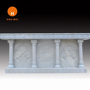 Western style marble column pillar design and stone reliefs for sale C-005