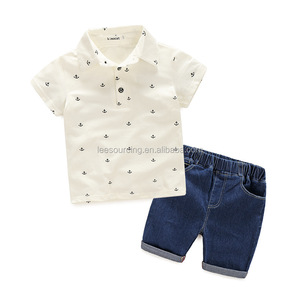 Baby polo t shirt and short trousers set child clothing summer baby boy sets clothes