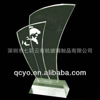 Sail Shape Acrylic Awards Standacrylic Trophy Stand