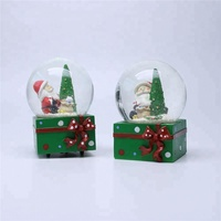 Craft Souvenir Items Glass Snow Globe With Blowing Snow