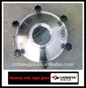 Sanitary Pressure Manway With Sight Glass