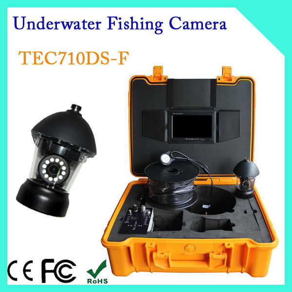 underwater fish finder video, 7-inch TFT display underwater fishing camera TEC710DS-F with 20-150m cable
