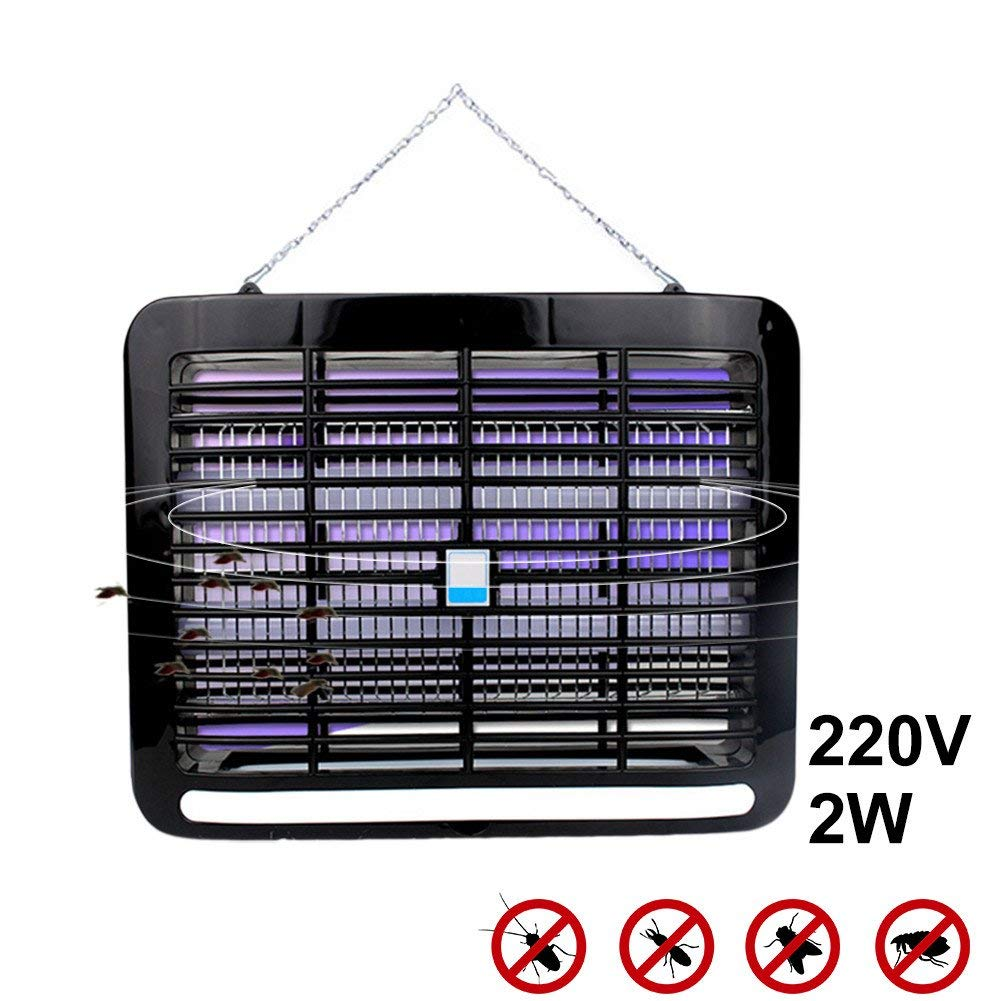 Bug Zapper,SHZONS 220V 2W LED Light Electronic Indoor Mosquito Insect Killer Bug Fly Zapper Trap UV Purple Lamp