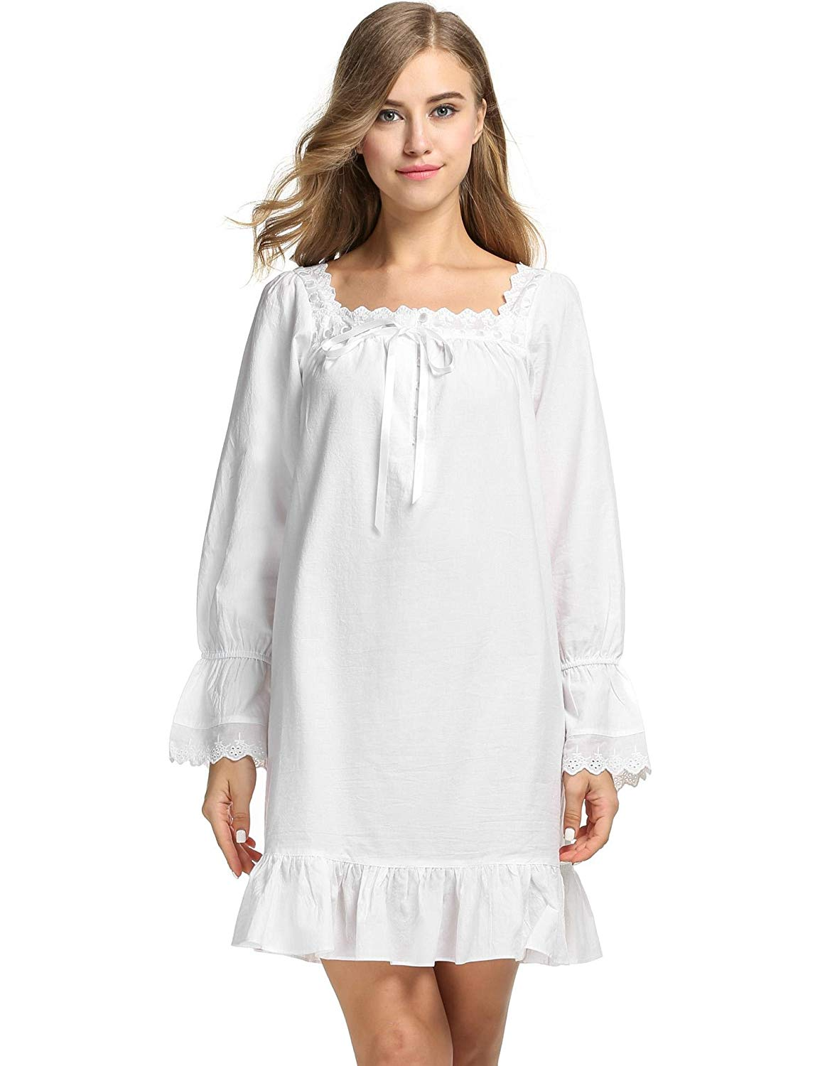 Get Quotations · Dickin Loose Nightgowns White Cotton Nightgowns Might  sleepweaer for Girls Nightgowns   Sleepshirts 13b64864e