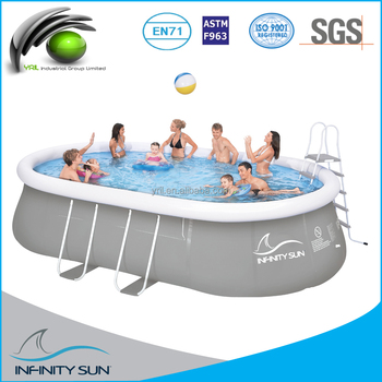 Metal Frame Pool / Oval Steel Frame Pool /chinook Grey Oval Steel ...