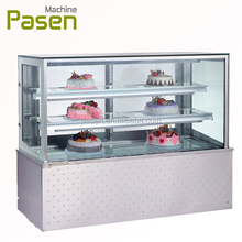 Industriale mini <span class=keywords><strong>frigo</strong></span> per bottiglia/insalata display frigorifero/4 lato display in vetro frigorifero