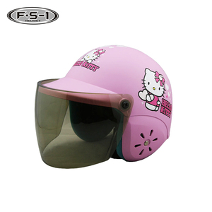 Hello Kitty decal Pink color open face infant motorcycle helmet full face for kids