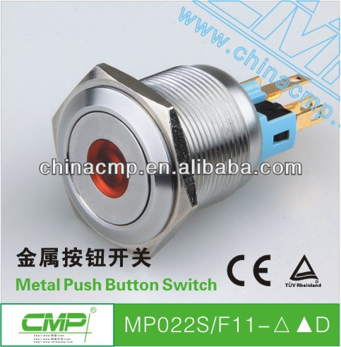 CMP 22mm stainless steel vandal resistant switch