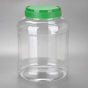 5 liter plastic bottle with handle cap,1 gallon big PET jar