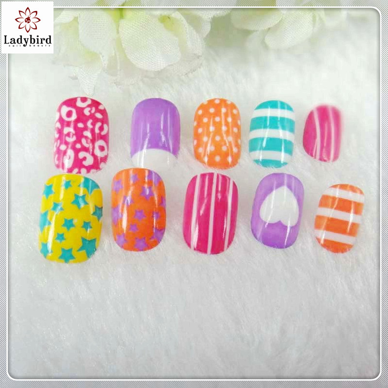 Ladybird Kids Nail Art Maker/kids Nail Tips Fake Nails - Buy Nail ...