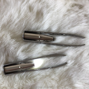 LED Lighted Metal Eyebrow Tweezers with Light