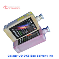Competitive price offer Dx4 Dx5 Mimaki Mutoh printers compatible Galaxy UD Eco solvent ink