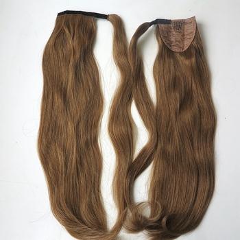 20 Zoll Schwarz Farbe Natur Menschliches Haar Einfach Tragen