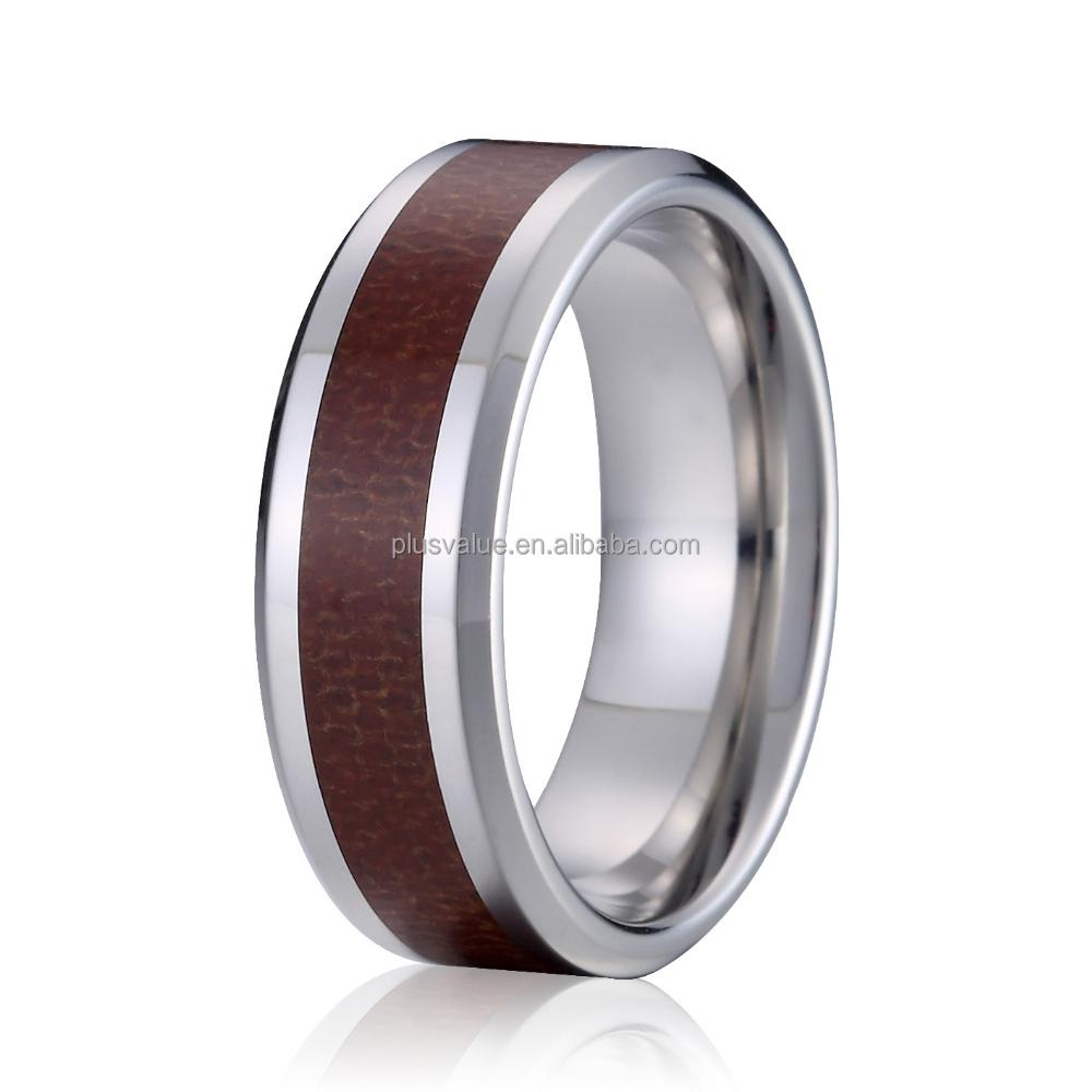 Unieke roestvrij staal hout heren ringen roestvrij stalen sieraden ...