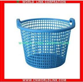 double handle plastic laundry basket