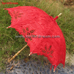 Hot sales!! Most popular chinese wholesale wedding cotton lace parasol