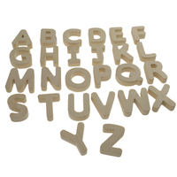 Cheap kit refrigerator magnet decorative 26 A-Z Capital laser cut custom mdf wooden magnetic alphabet letters