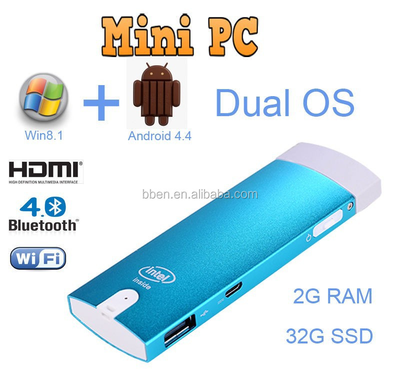 Cheapest mini pc windows 8.1 Quad Core Z3735F 4g <strong>dongle</strong> for android <strong>tv</strong> <strong>stick</strong>