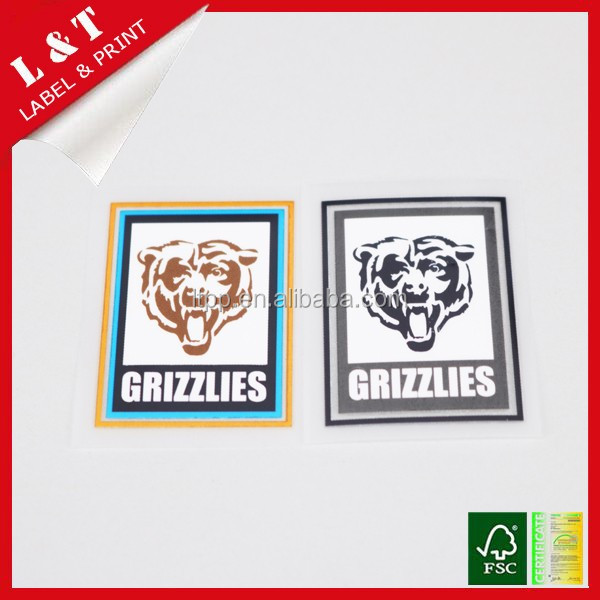 Washable cartoon heat transfer labels for children's garment